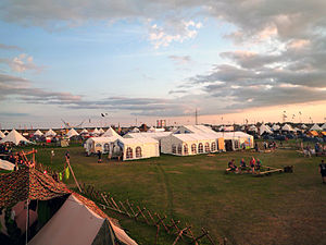 22nd World Scout Jamboree - The Hunneberg Subcamp Center during the camp