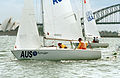 231000 - Sailing sonar Jamie Dunross Noel Robins Graeme Martin action 12 - 3b - 2000 Sydney race photo.jpg
