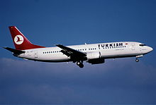 266bd - Turkish Airlines Boeing 737-4Y0; TC-JET@ZRH;07.11.2003 (5127104056).jpg