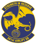 301st Airlift Squadron emblem (new).png
