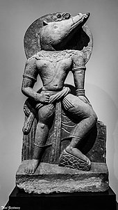 3rd century Varaha Vishnu as the Boar Avatar Mathura.jpg