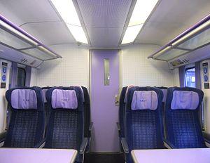 British Rail Class 458 - The interior of First Class cabin