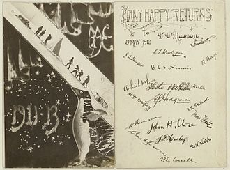 Australasian Antarctic Expedition - Signatures of some expedition members