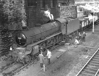 LNER Thompson Class B1 - 61337 derailed at Stanningley, 1966/7