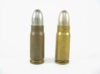 7.65×25mm Borchardt - Image: 7.65mm Borchardt & 7.63mm Mauser