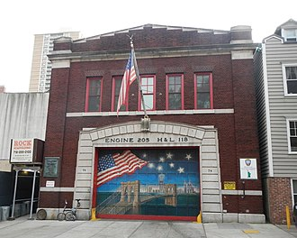 Brooklyn Heights - The firehouse for FDNY Engine Co. 205/Ladder Co. 118
