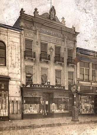 Adler's Jewelry - Adler's of New Orleans at 810 Canal Street, ca. 1905.