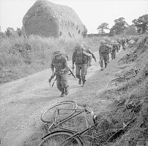 76th Infantry Division (United Kingdom) - Men of the 8th Battalion, Lincolnshire Regiment, during an anti-invasion exercise in Norfolk, 1941