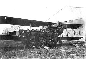 V Corps Observation Group - Pilots of the 99th Aero Squadron with a Salmson 2.A2, Parois Airdrome, France, November, 1918