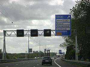 A10 motorway (Netherlands) - The A10 near exit s116.