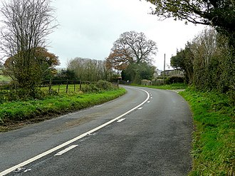 A388 road - The A388 at Polson near Lifton