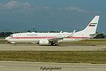 A6-AUH Boeing B737-8EX-W BBJ B738 - Amiri Flight Line (29941731545).jpg