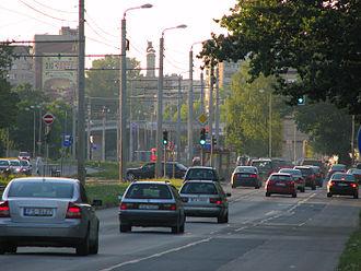 A6 road (Latvia) - Image: A6 Riga 2