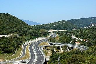 Highways in Croatia - A7 motorway, Croatian motorway network was largely built in the 2000s