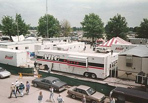 ESPN on ABC - The ABC Sports broadcasting complex at the 1993 Indianapolis 500.