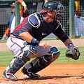 AJ Pierzynski catching during spring training 2015.jpg