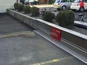 Mobility Carsharing - A Mobility station in Lucerne.