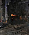A Naval Gun in the Hydraulic Press- Elswick Works, Newcastle upon Tyne (38519021646).jpg
