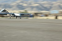 A U.S. Army unmanned aerial system lands at Combat Outpost Xia Haq, Laghman province, Afghanistan, May 31, 2013 130531-A-XM609-163.jpg