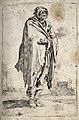 A bearded beggar in ragged clothes. Etching with engraving p Wellcome V0020322.jpg