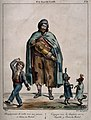 A blind hurdy gurdy player and his son and two dancing dogs. Wellcome V0015905.jpg