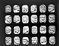 A collection of twenty-four ivory heads. Wellcome L0021870.jpg