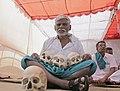 A farmer with skulls during the 2017 Tamil Nadu Farmers Protest.jpg
