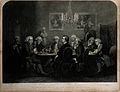 A gathering at Joshua Reynolds's house; Oliver Goldsmith and Wellcome V0006842.jpg