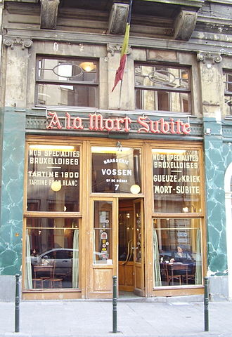 Alken-Maes - À la Mort Subite, the Brussels café giving its name to a line of Alken-Maes beer