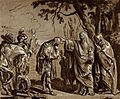 A man wearing a cloak (a druid ?), touching the head of a bo Wellcome V0025912.jpg