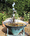 A metal water feature Gibberd Garden Essex England 02.JPG