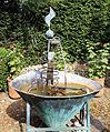 A metal water feature Gibberd Garden Essex England 02.JPG