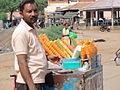 A road side ice vendor in Hokenakal.JPG