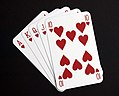 A studio image of a hand of playing cards. MOD 45148377.jpg