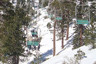 Mount San Antonio - A view from a chairlift.