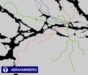 Abrahamsberg metro station - Image: Abrahamsberg Tunnelbana