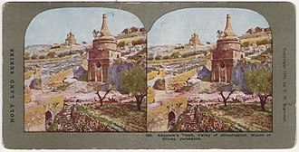 Tomb of Absalom - Stereo card by T.W. Ingersoll