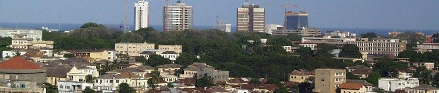 Accra Skyline - Wide view