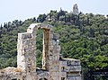 Acropolis - Herodes Atticus theatre and Philopappos monument.jpg