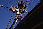 Actor aboard Brig Beaver, Boston Tea Party Museum (8638118494).jpg