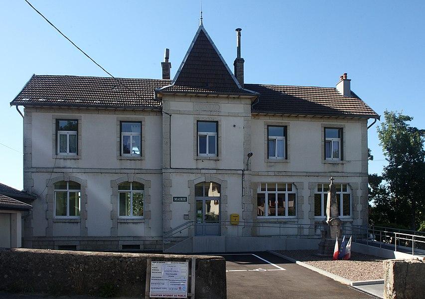 Mairie d'Adam-les-Vercel (Doubs).