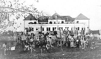 Adana massacre - Armenian orphans of Adana Dârüleytâm.