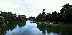 Vaprio d'Adda - The river Adda from Vaprio d'Adda.