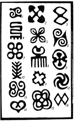 Adinkra symbols - Adinkra symbols recorded by Robert Sutherland Rattray, 1927