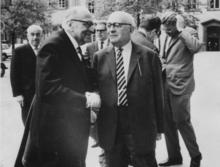 Max Horkheimer (a sinistra) e Theodor Adorno (a destra)