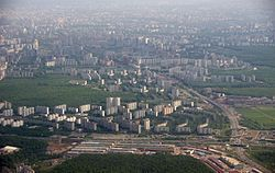 Aerial view of Tyoply Stan District