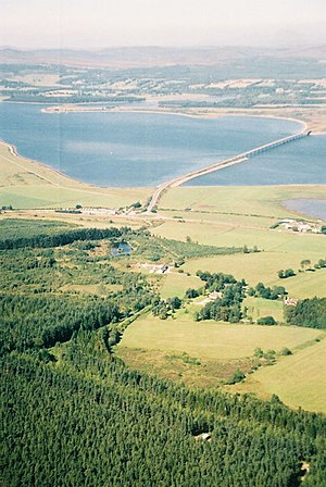 Meikle Ferry disaster - Aerial view of the Dornoch Bridge