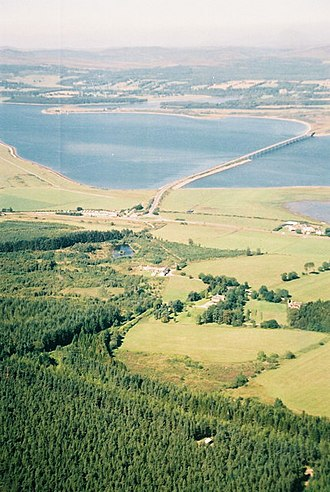 Dornoch Firth Bridge - Aerial view in August 2004