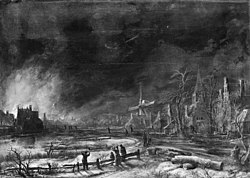 Aert van der Neer: Fire by Night in the Winter