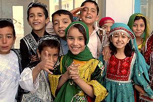 Outline of Afghanistan - Afghan boys and girls at Kabul